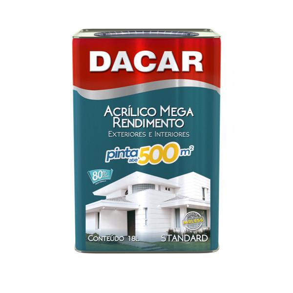 Tinta Acrílica Fosco Branco Standard Mega Dacar
